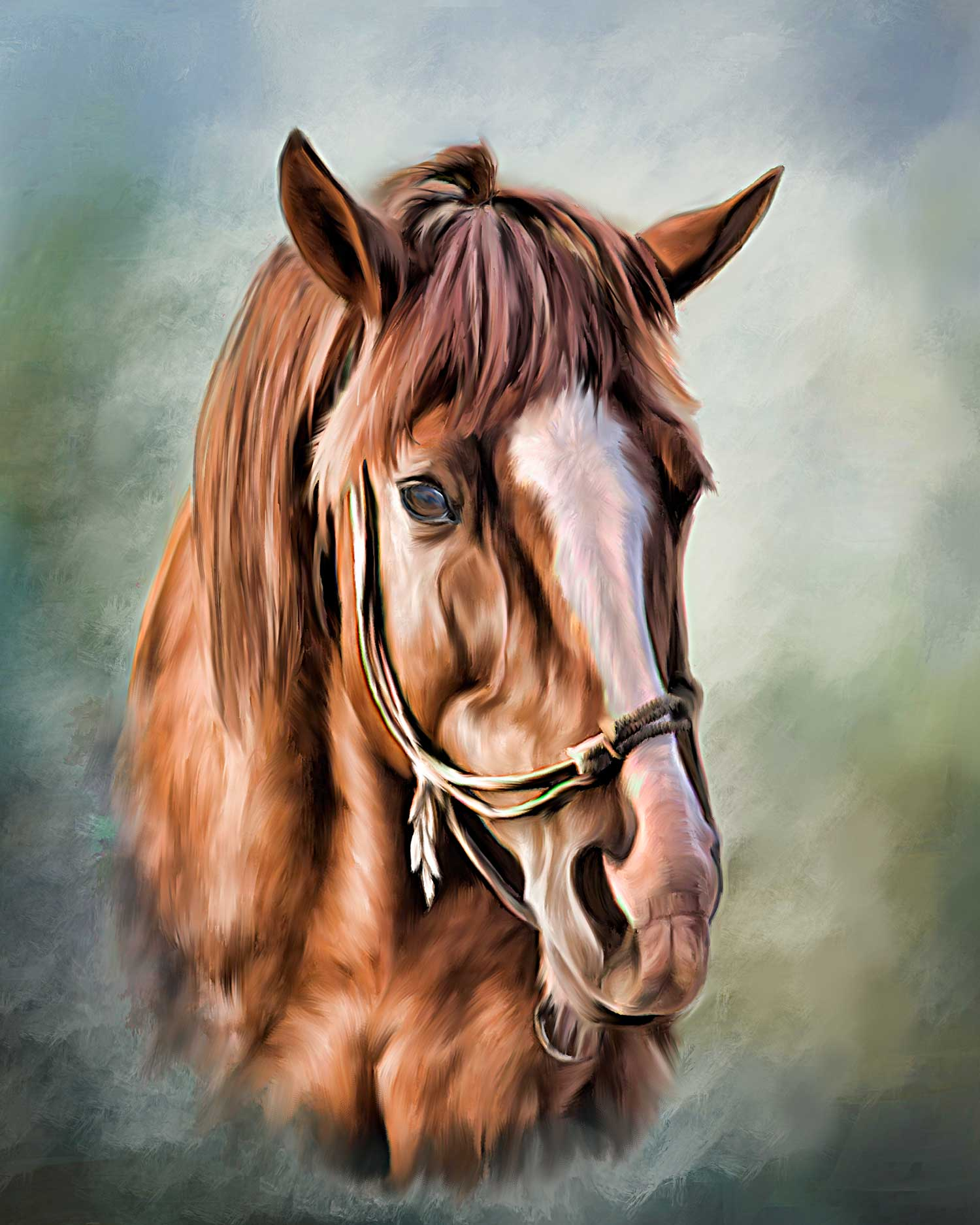 Chestnut Horse Head With Photos A Painted Pet Custom Pet Paintings