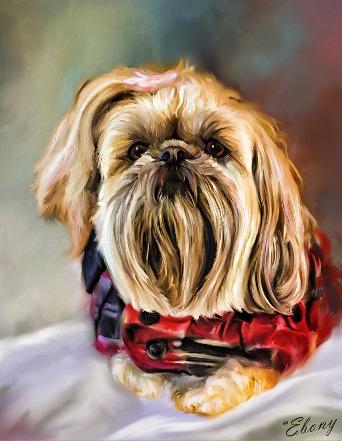 Dog Portait of Shih Tzu